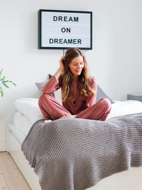 48e91dd2893 Blogger Christina Dueholm in ASOS pyjamas